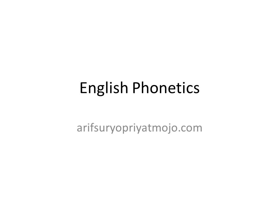 English Phonetics Arifsuryopriyatmojocom Questions To Consider - What languages are there