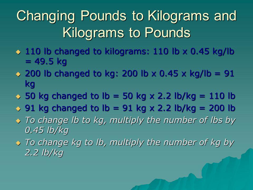 change kg into pounds