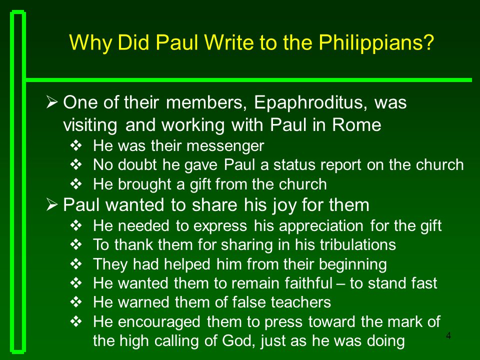 why did paul write to the