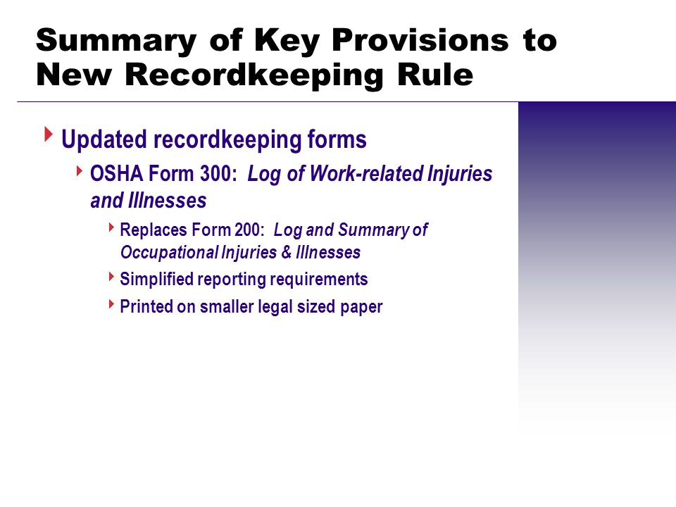 Recordkeeping & Reporting: How the Revised Standard Affects ...