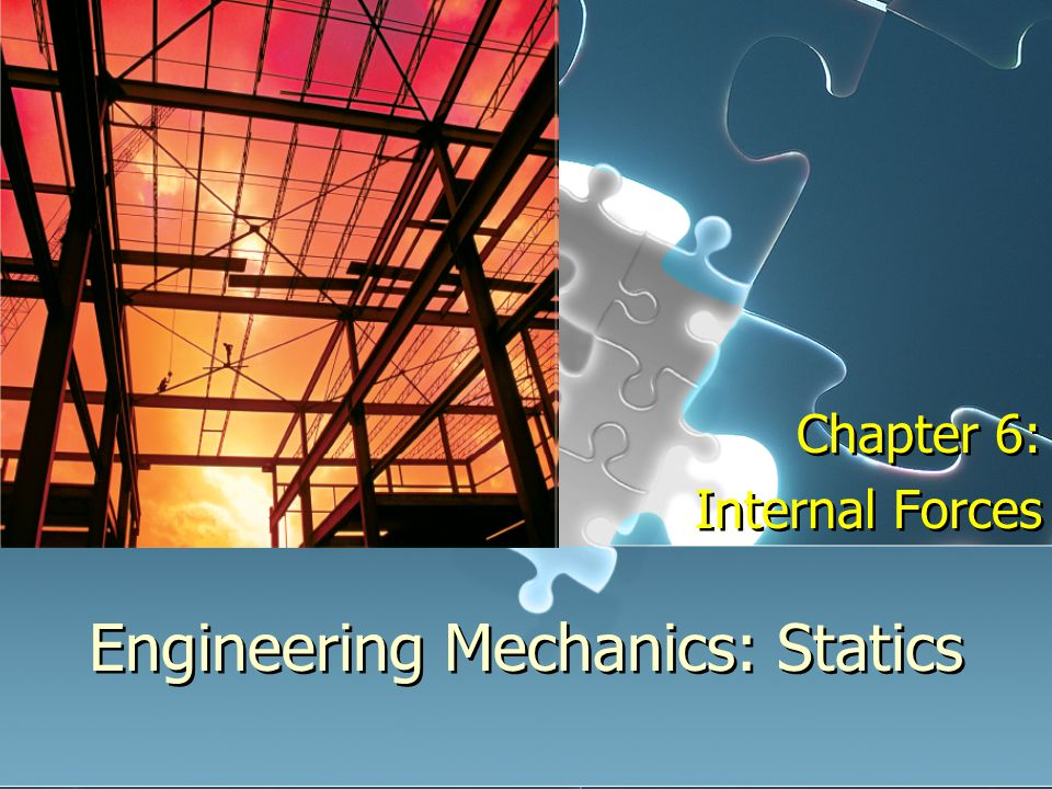 Engineering Mechanics: Statics Chapter 6: Internal Forces Chapter 6: Internal Forces