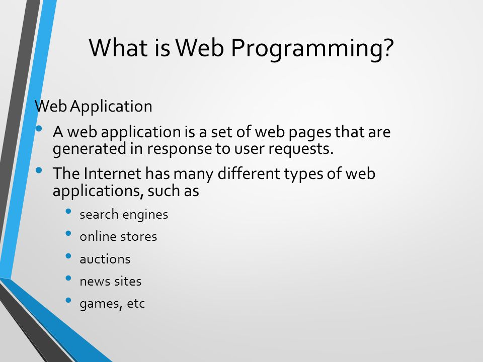 What is Web Programming.