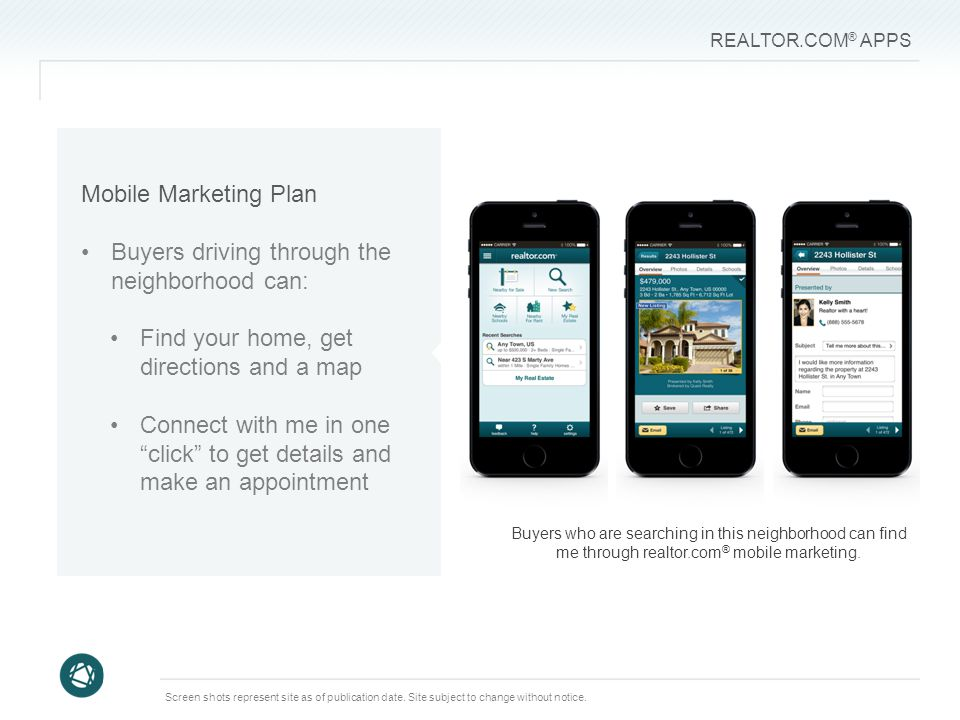 REALTOR.COM ® APPS Screen shots represent site as of publication date.