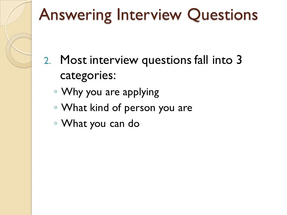 how to do good in an interview