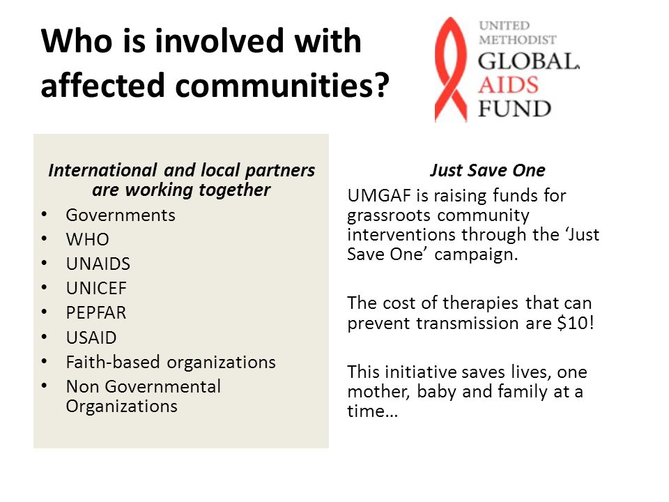 Who is involved with affected communities.
