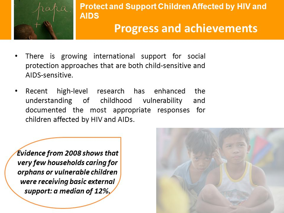 There is growing international support for social protection approaches that are both child-sensitive and AIDS-sensitive.