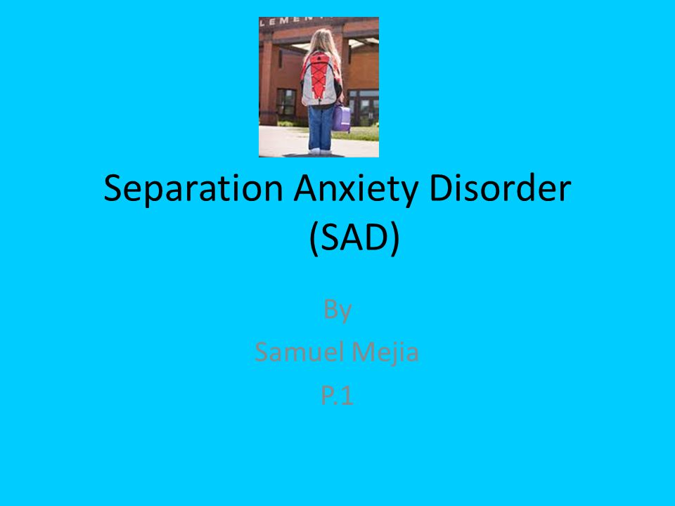 separation anxiety disorder essays Separation disorder, also known as separation anxiety, is a common problem in both children and adults in children, the disorder can create issues like social anxiety and developmental problems the disorder also affects adults, although this was something that hadn't been as discussed until recently.