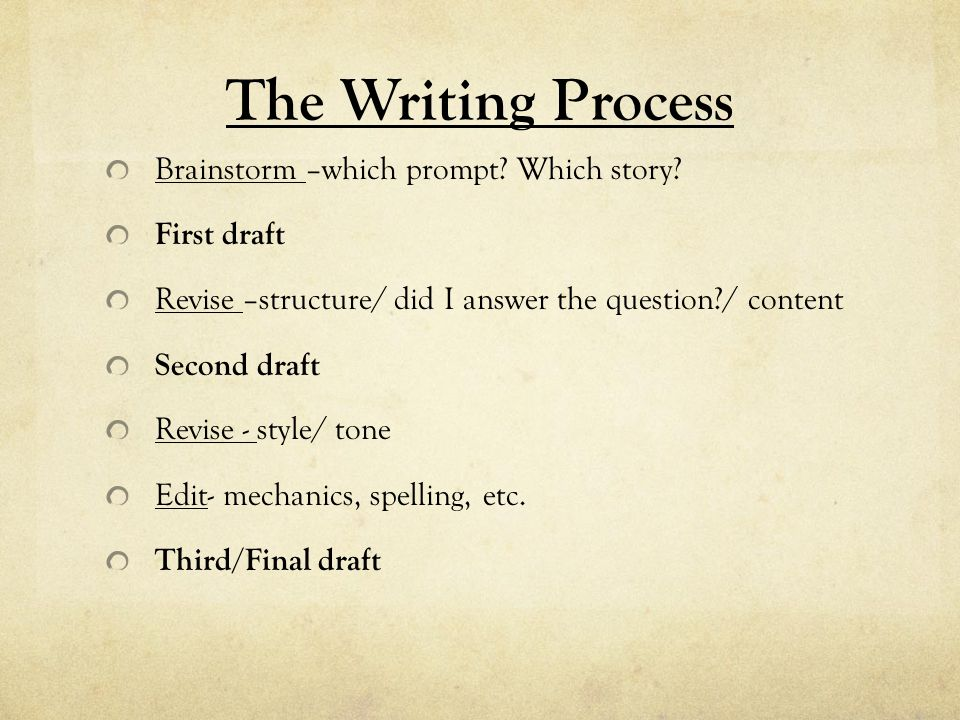 academic writing the common college essay kimberly kern english  the writing process brainstorm –which prompt which story first draft revise –structure