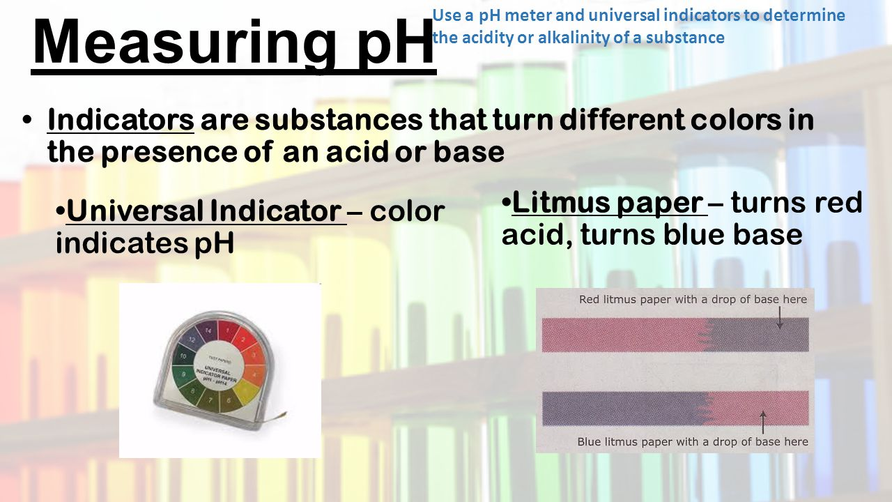 The pH Scale  for Ph Scale Universal Indicator  165jwn