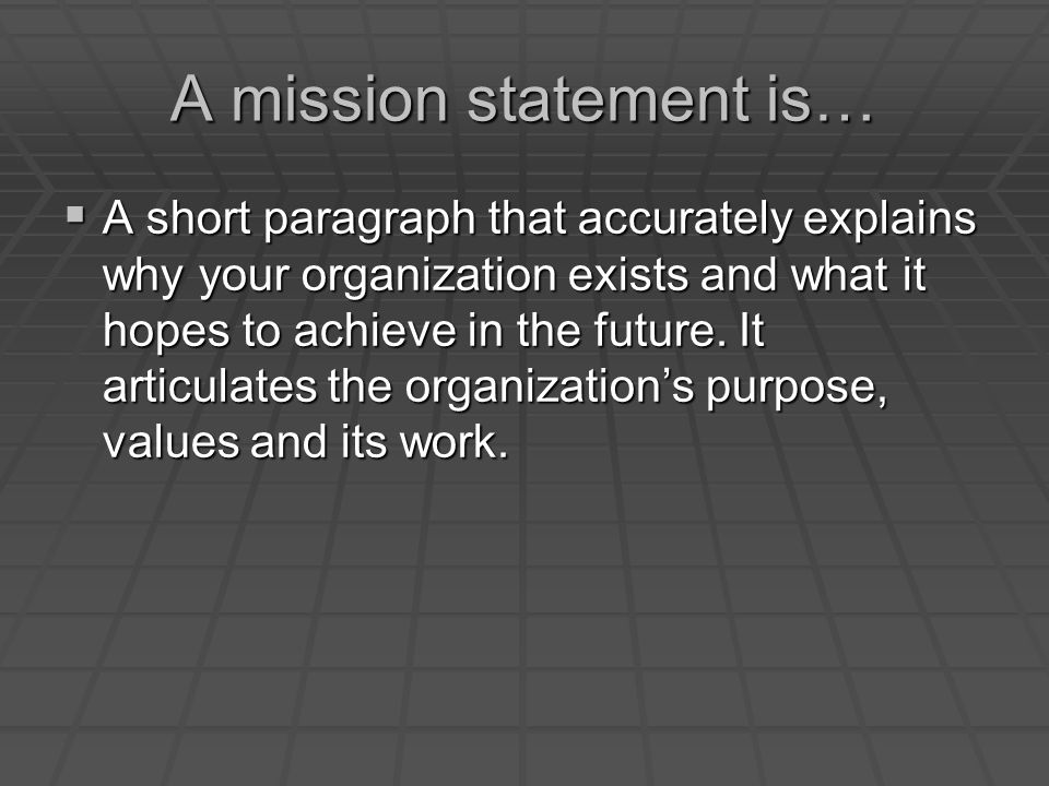 short mission statements