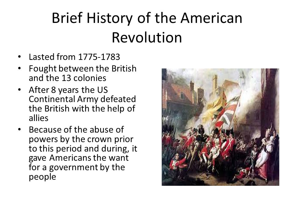 ignorance of the british as the major factor of the american revolution A summary of the revolutionary war: or section of the american revolution (1754 that proved to be a major factor in the war's outcome to the british.