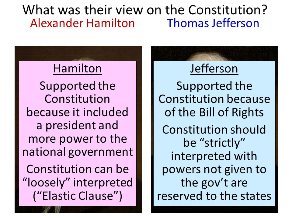 thesis statement jefferson vs hamilton