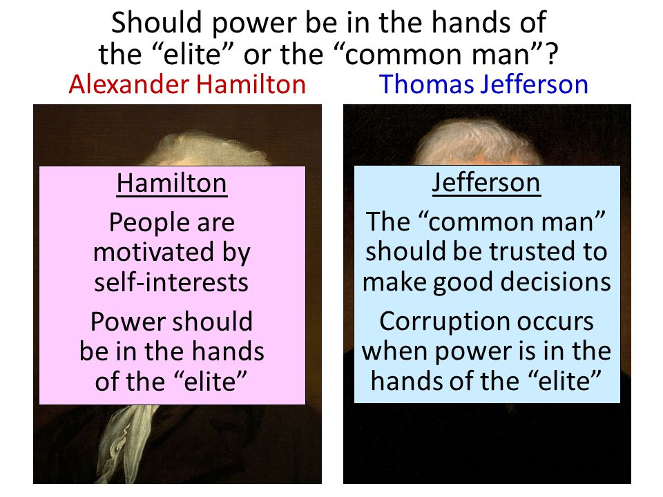 hamilton versus jefferson essay Hamilton vs jefferson essay - entrust your report to qualified writers employed in the platform stop getting bad marks with these custom essay recommendations no fails with our trustworthy essay services.