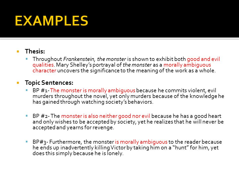 Examples On Thesis Statements