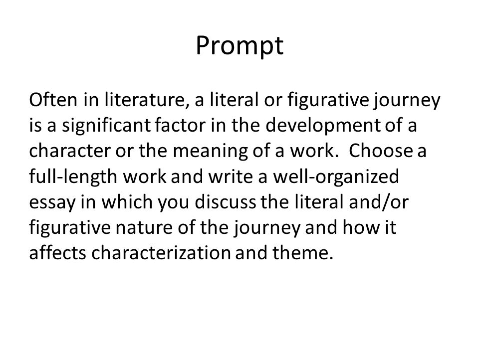 compare contrast literature essay prompt
