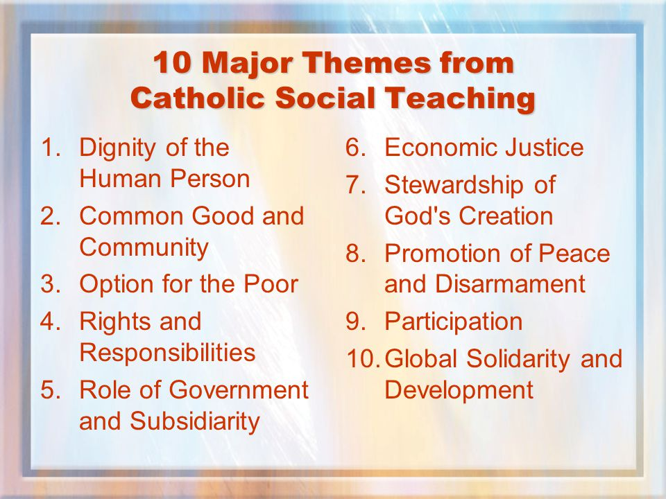 the catholic social teaching on giving to the poor and vulnerable Justfaith ministries develops and offers workshops and programs that empower people and expand commitment to social ministry within faith communitiesthrough these opportunities members of a parish study the church's commitment to the poor and vulnerable in a lively, challenging, multifaceted process, all experienced in the context of a small community of faith.