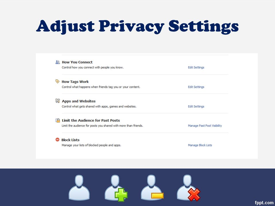 Adjust Privacy Settings