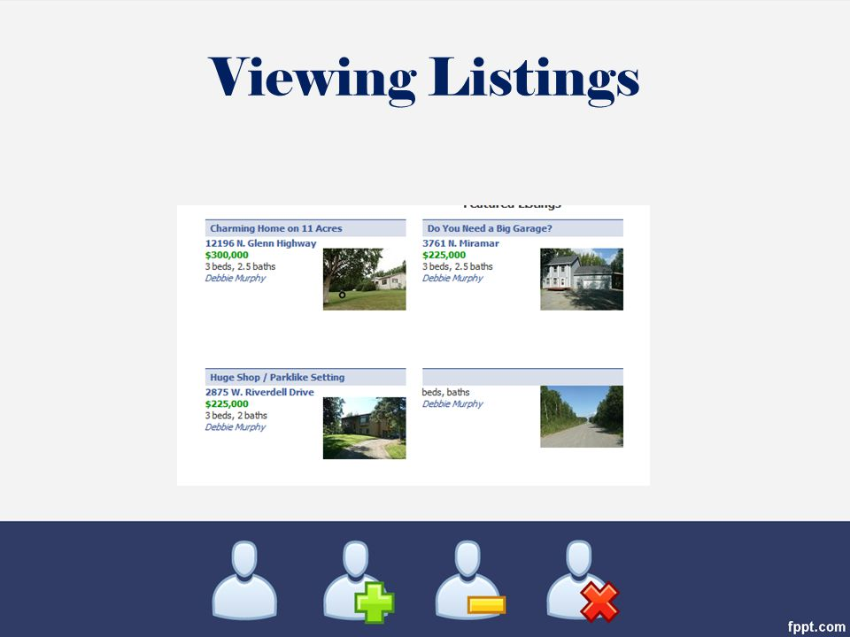 Viewing Listings