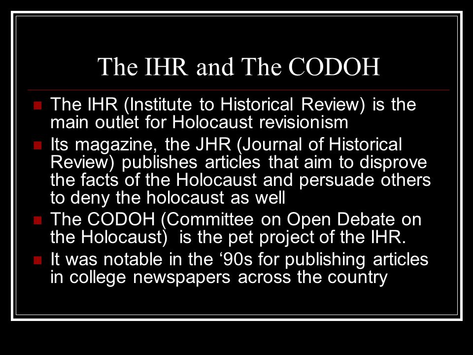 what is holocaust revisionism essay Essays and criticism on holocaust denial literature - overviews.