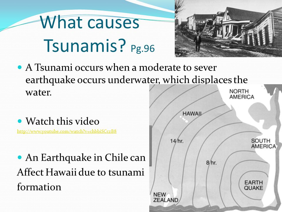 What causes Tsunamis.