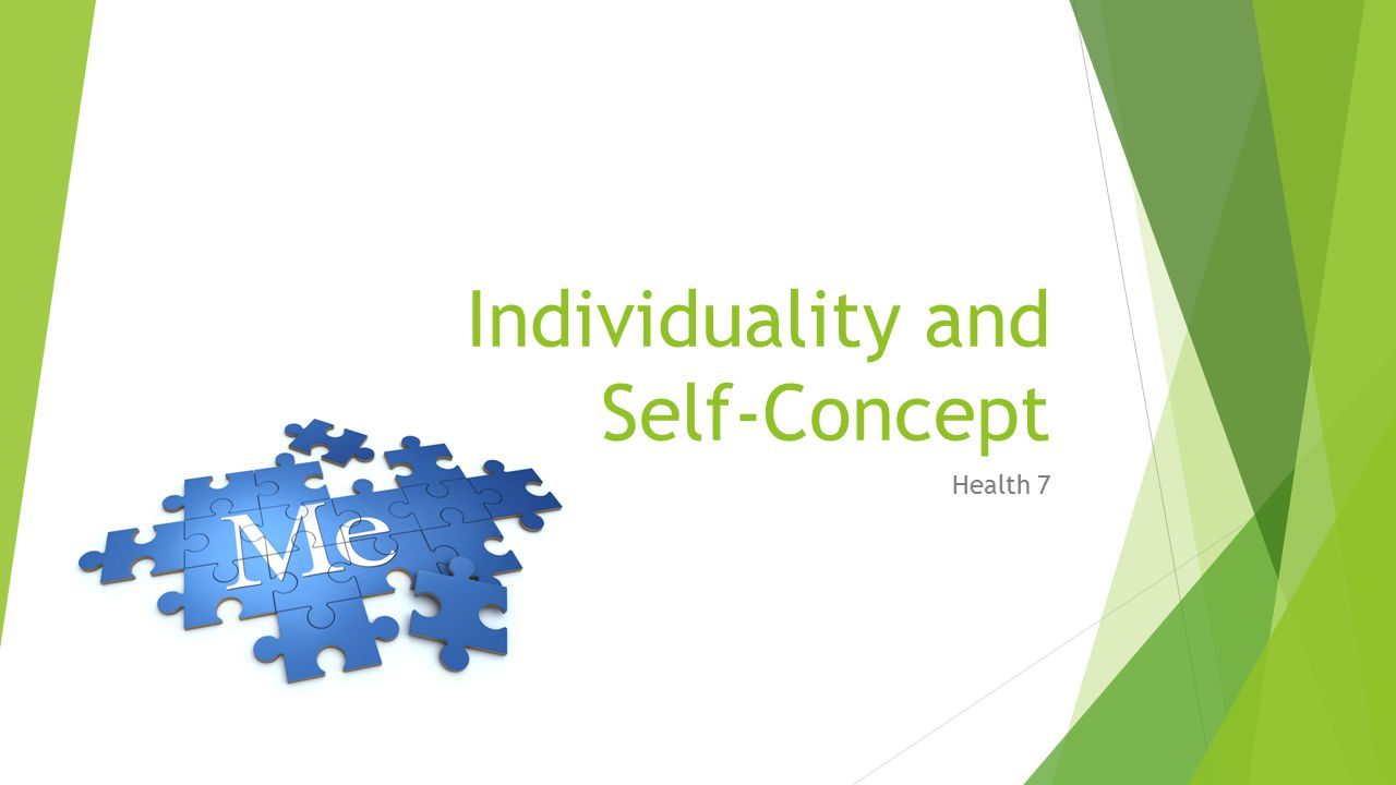 Individuality and Self-Concept Health 7