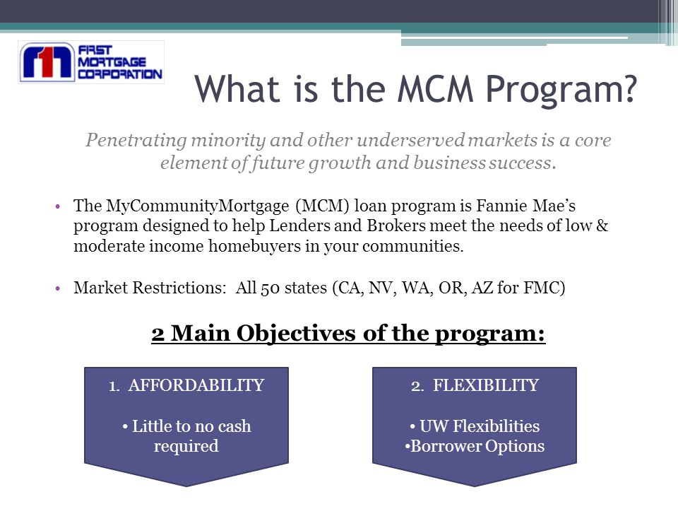 My Community Mortgage & Flexible Mortgage Training Offered through ...