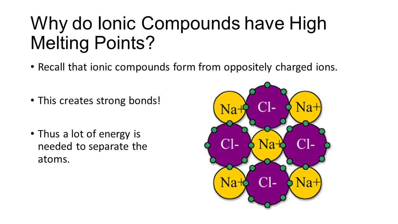 Why do Ionic Compounds have High Melting Points.