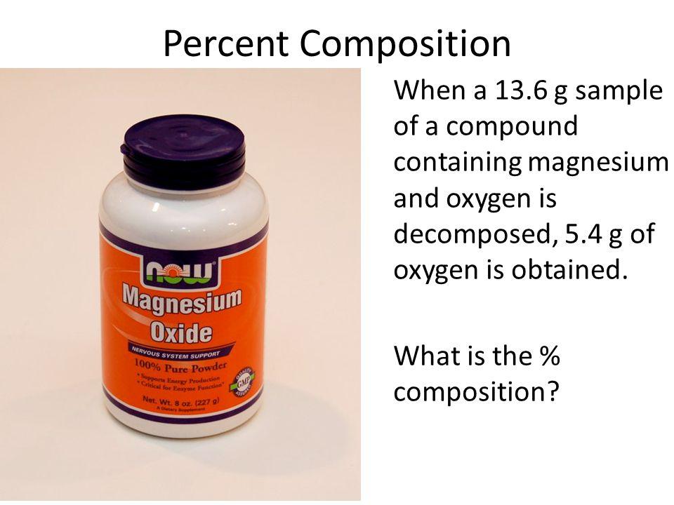 percent composition of gum  LessonPlansPagecom