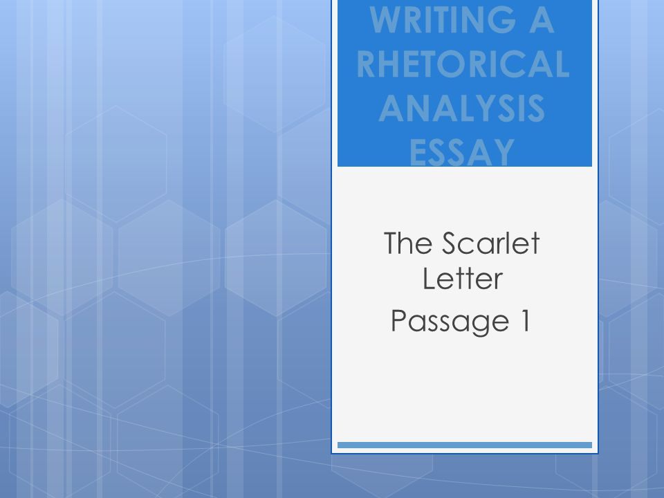 scarlet letter passage analysis essay The Scarlet Letter Analysis Essay