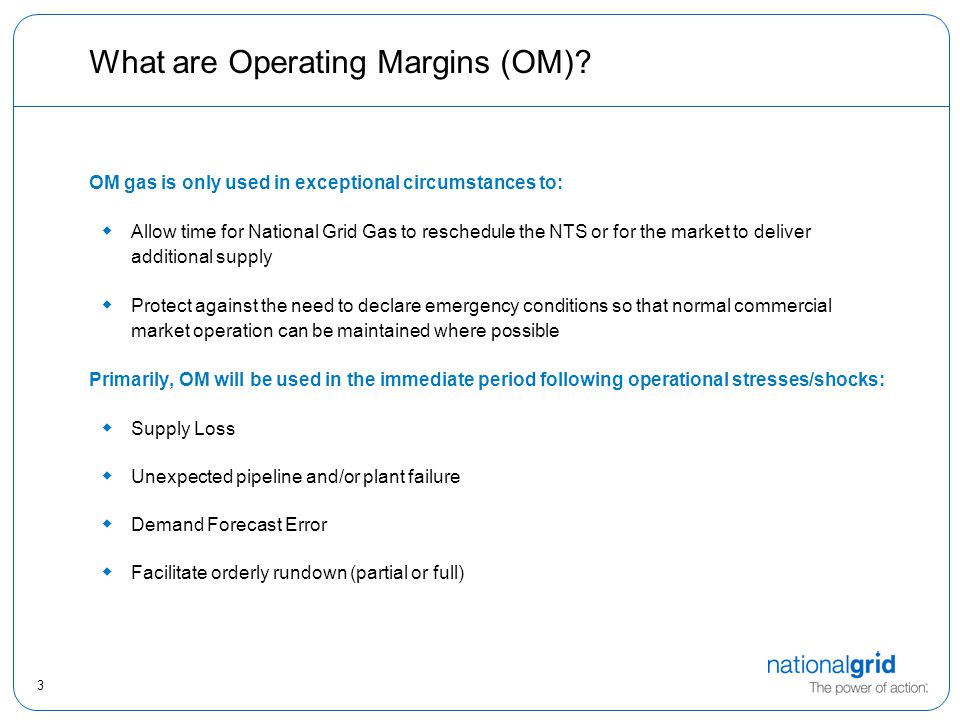 3 What are Operating Margins (OM).
