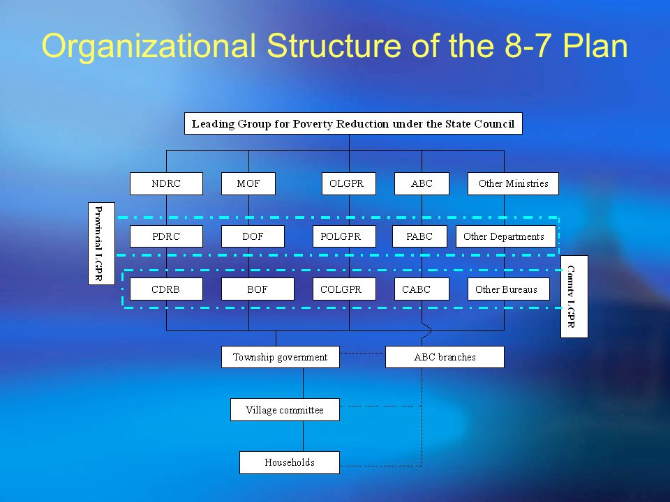 Organizational Structure of the 8-7 Plan