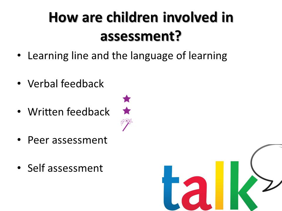 How are children involved in assessment.