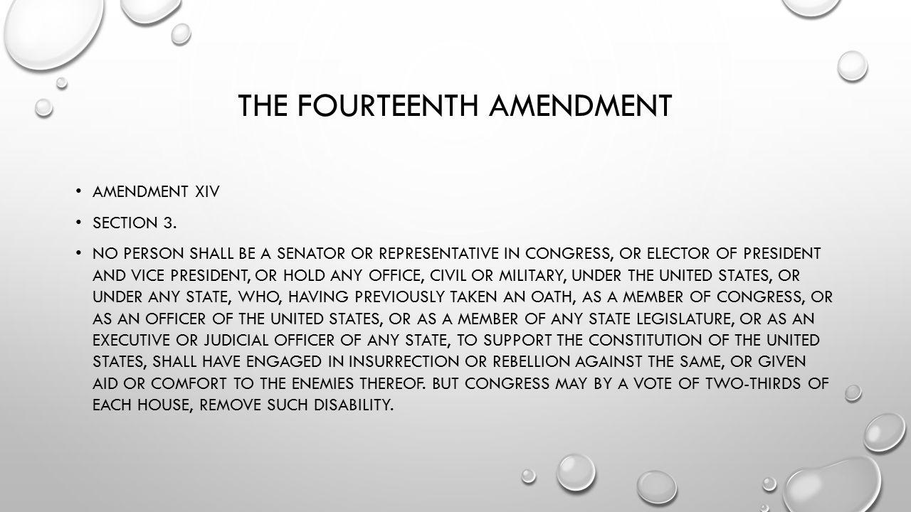 THE FOURTEENTH AMENDMENT AMENDMENT XIV SECTION 2.