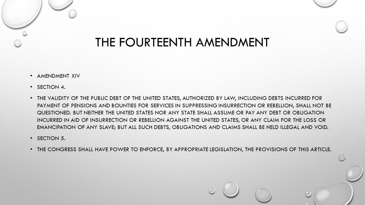 THE FOURTEENTH AMENDMENT AMENDMENT XIV SECTION 3.