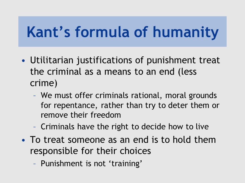 What are all of the reasons why we punish criminals?