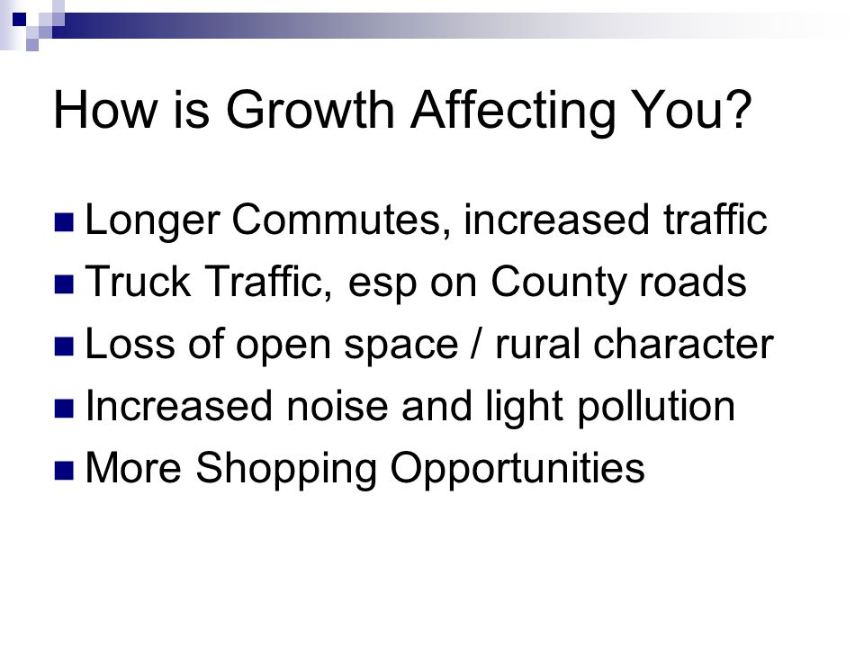How is Growth Affecting You.