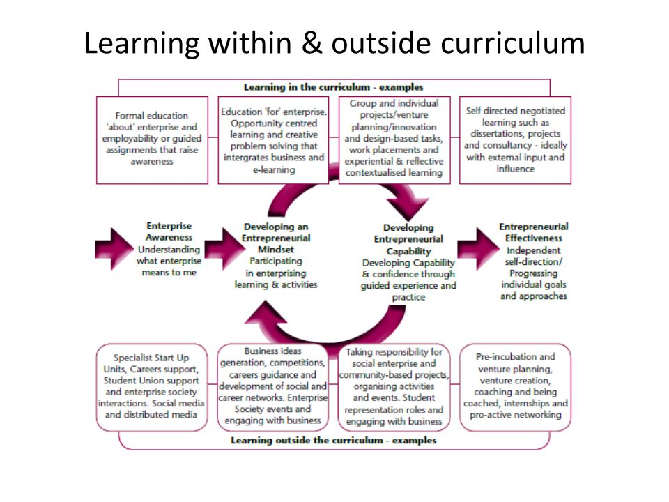 Learning within & outside curriculum