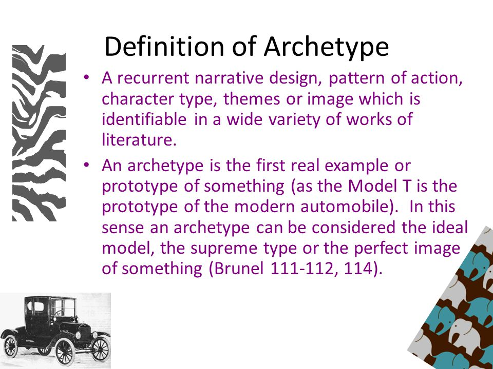 What does archetypes mean?