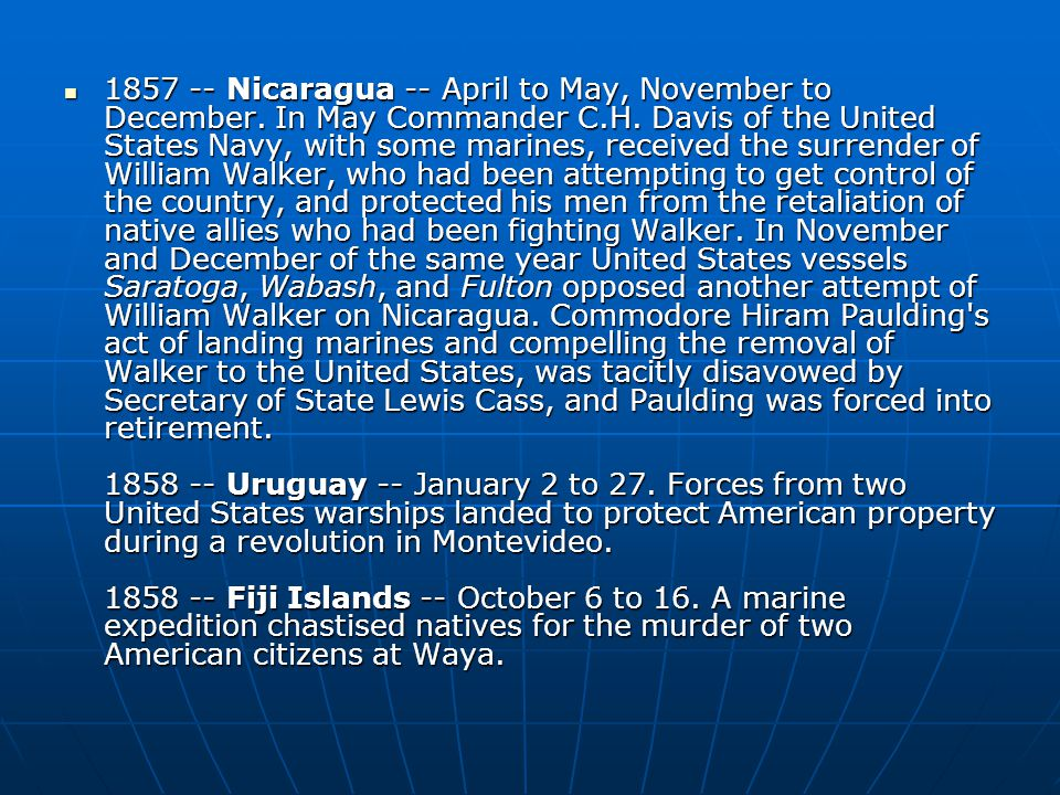 Nicaragua -- April to May, November to December.