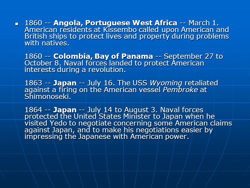 1860 -- Angola, Portuguese West Africa -- March 1.