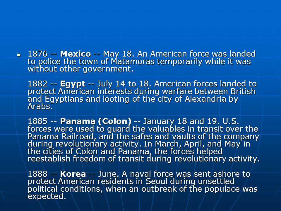 1876 -- Mexico -- May 18.
