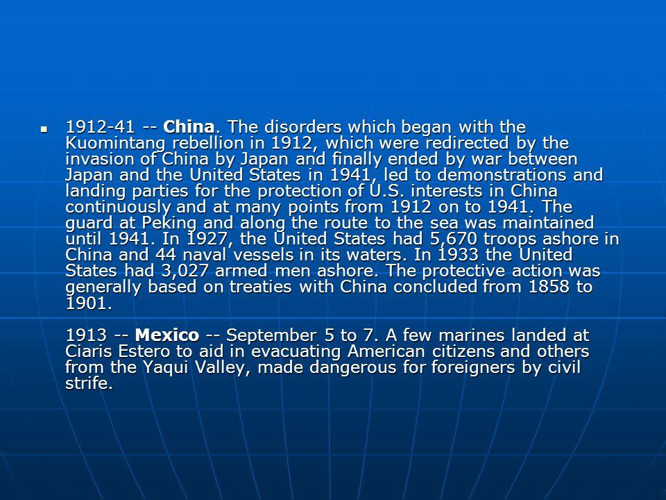 1912-41 -- China.