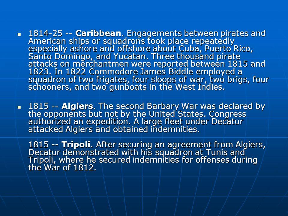 1814-25 -- Caribbean.