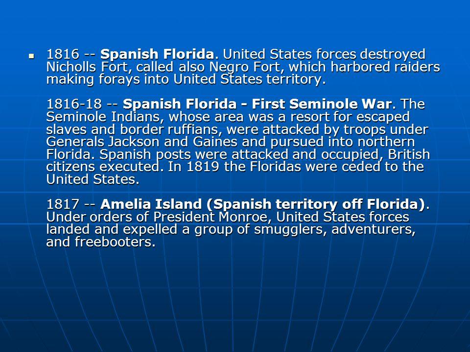1816 -- Spanish Florida.