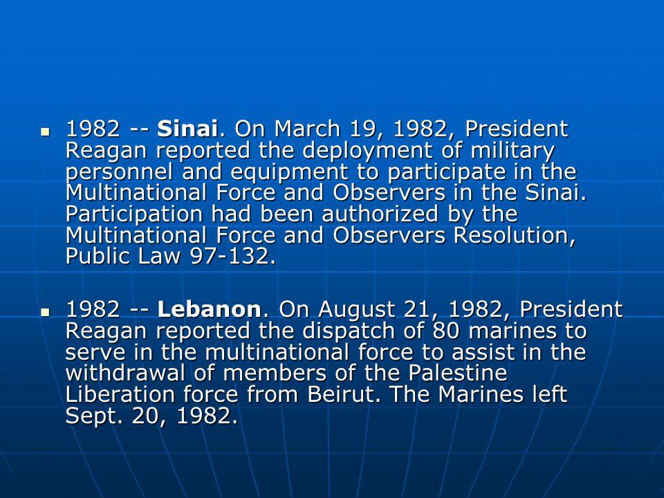 1982 -- Sinai.