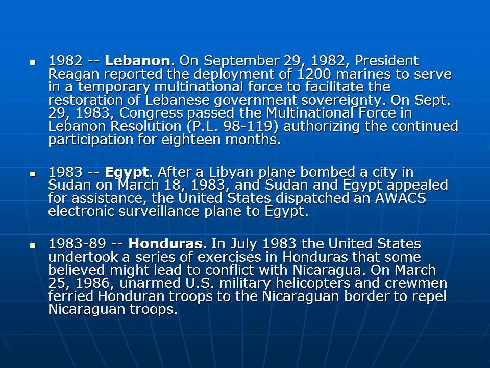 1982 -- Lebanon.