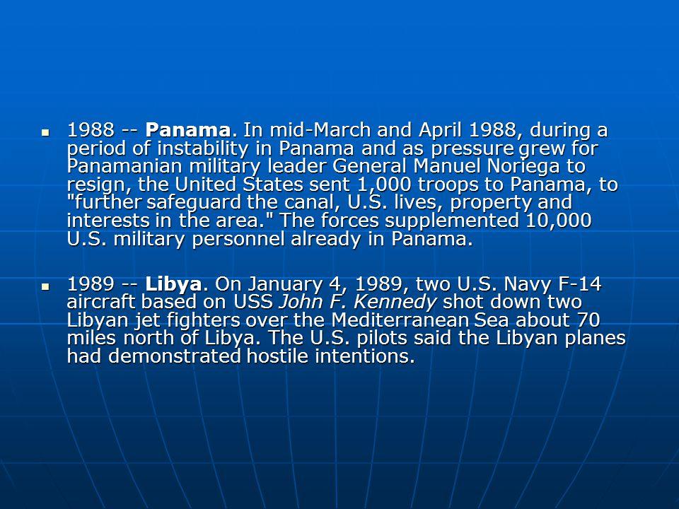 1988 -- Panama.