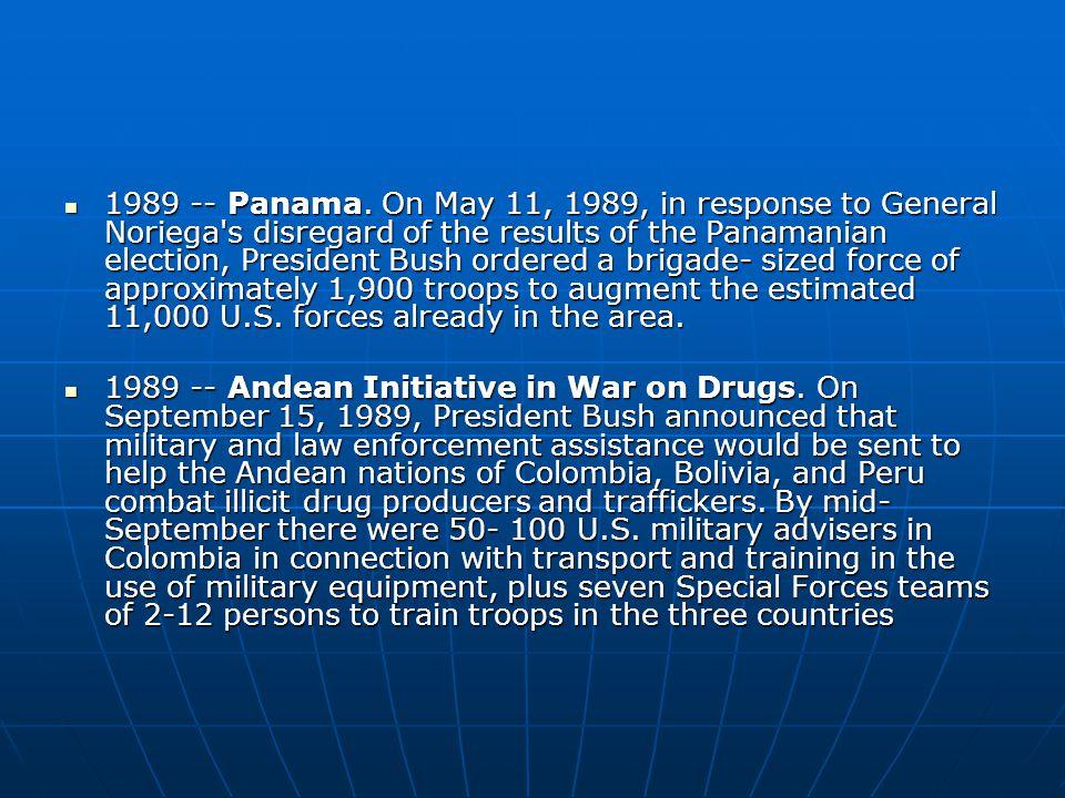 1989 -- Panama.