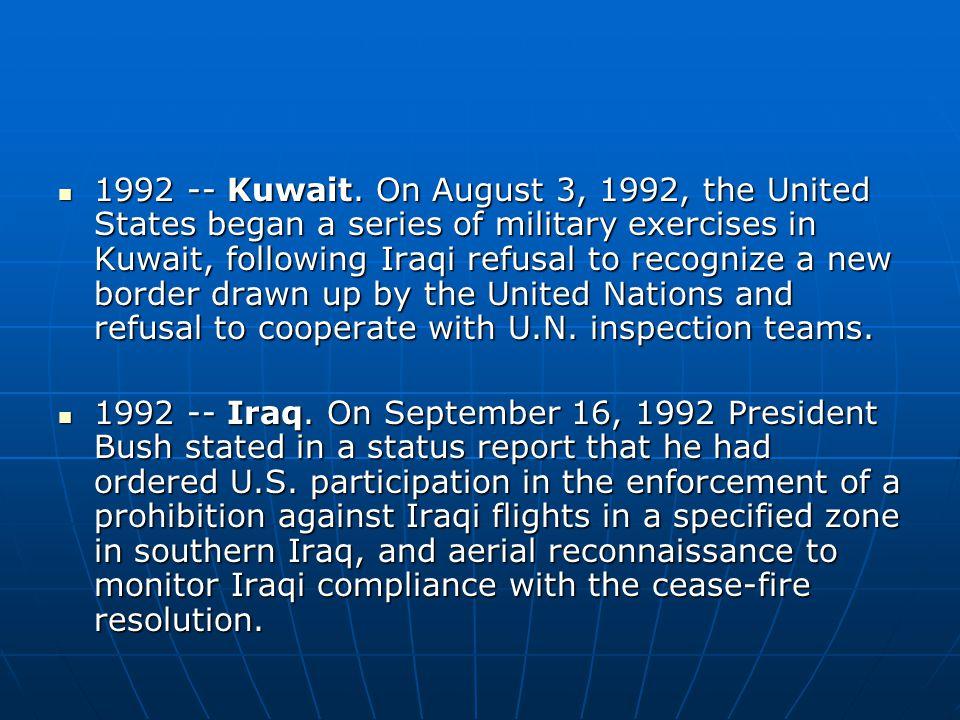 1992 -- Kuwait.