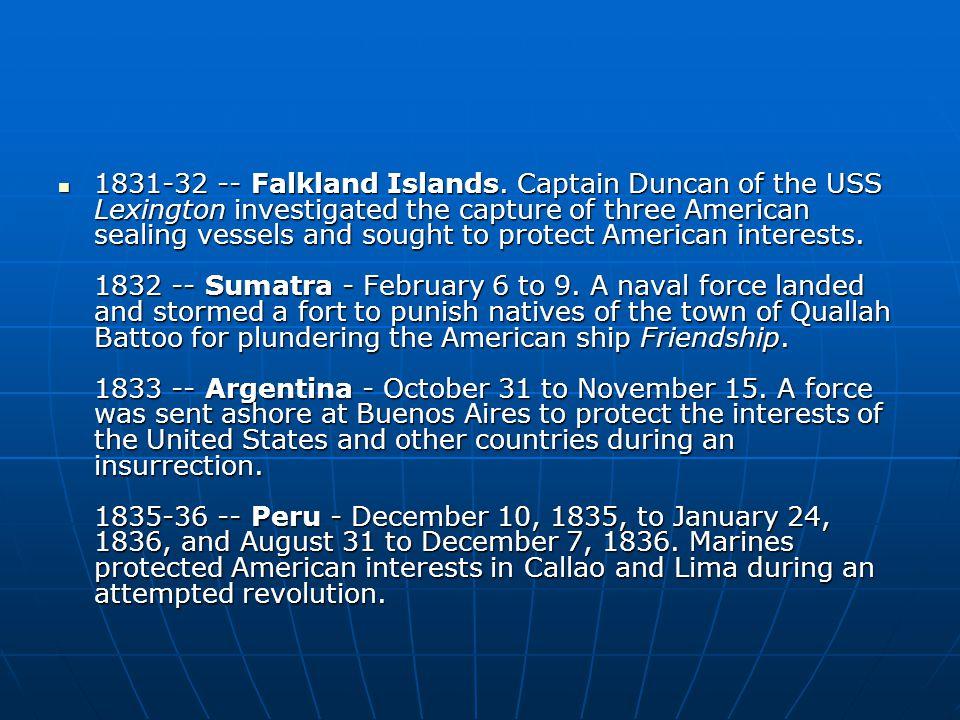 1831-32 -- Falkland Islands.